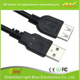 Transparent Male to Female USB Cable