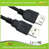 Transparent USB Am to Af Cable