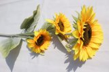 Silk Yellow Artificial Sunflowers Flowers Fake Flowers for Home Decoration