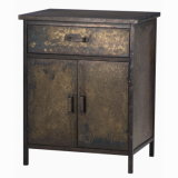 Antique Metal Tin Indoor Home Furnitures Tin Cabinet