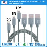 1m Grey Nylon Braided USB Cable for iPhone