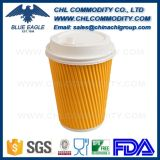 Fad Approved Corrugated Paper Cup with Lid and Sleeve