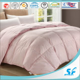 100 Cotton Cloth Microfiber Filling White Luxury Quilt for Hotel