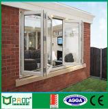 Energy Saving Aluminium Double Tempered Clear Glass Bi Folding Window
