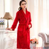 Soft Microfiber Coral Fleece Bathrobes for Women