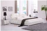 Merida White Italy Leather Bed Frame L. H8305