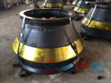 ISO Certificated Cone Crusher Concave Mantle, Ore High Manganese Crusher Mantle