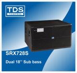 Box Speaker Dual 18 Inch Subwoofer Enclosure for Big Sound Systems (SRX728S)