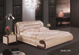 Comfortable Wooden Leather Double Bedroom Beds (J303)