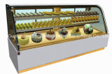 Curved Glass Mable Base Cake Display Chiller