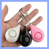 Promotion Gift Water Drop Shape Multi Color Lady Personal Alarm with Key Chain