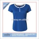 Women Dry Fit Blank Sports T- Shirt with Round Neck