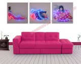 2019 Hot 3PCS Sets Optical Fiber (NOT LED) Luminous Painting Modern Home Decoration Painting with Remote Controller