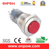 Onpow 16mm Colorized Metal Pushbutton Switch (LAS2GQG-11/R/S, CE, CCC, RoHS compliant)