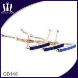 Enamel ID Badge Rolo Chain Bracelet