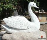 Granite Marble Stone Garden Swan Sculptures for Decoration
