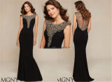 Women Slim Sexy of Beaded Evening Dress, Party Dress Tailored