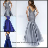 Crystal Prom Party Gowns Vestidos De Fiesta Silver Wine Chiffon Evening Dresses St11324