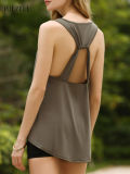 Guangzhou Factory Chic U-Neck Open Back Tank Top