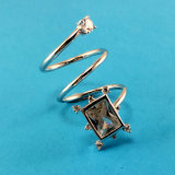 2017 New Arrivals 925 Sterling Silver Square Design Ring (R10485)
