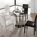 Best Price Tempered Clear Glass Dining Table