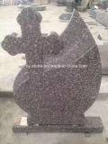 Chinese Granite G664 Tombstone/Grave Stone/Headstone in Romania Style with Customized Design