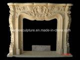 Lowest Price Home Decoration Beige Marble Fireplace (SY-MF118)