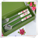 Stainless Steel Tableware Set in Korean Design for Promotion Gift