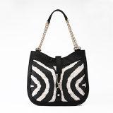 Fashion Women Zebra Designer Brand Handbag (MBNO037030)