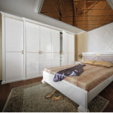 Oppein Noble Golden Line White Lacquer Wardrobe (OP-YG11169)
