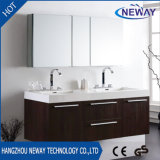 Modern Melamine Double Basin Teak Bathroom Furniture