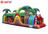 30 Feet Tropical Mini Slide Inflatable Obstacle Course Bb284