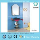 Floor-Mounted Bathroom Glass Basin Vanity (BLS-2143)