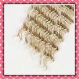 Hot Light Color Brazilian Hair Weaving Deep Wave 16inches