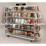 Retail DVD/Book Metal Floor Display Shelf Rack