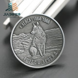 Jiabo Wholesale Custom Wolf Logo Antiqu Silver Metal Army Challenge Souvenir Military Coin