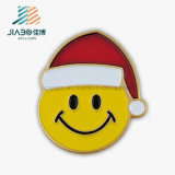 Factory Wholesale Price Paint Emoji Christmas Gift Metal Lapel Pin
