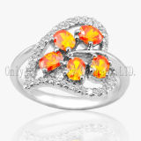 Fashion 925 Sterling Silver Jewelry CZ Engagement Ring for Lady