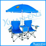 Double Folding Chair Umbrella Table Cooler Fold up