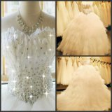 Feather Wedding Dress Tulle Rhinestones Bridal Ball Gown H131012