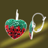 Czech Crystal Earring 925 Sterling Silver Jewelry (ESL3382)