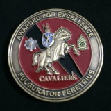 Brass Challenge Coin with Diamond Cut Edge