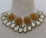 Fashion Beaded Crystal Costume Jewelry Collar Necklace (JE0121)