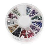 12 Mix Shape Wheel 3D Nail Art Kits More Style and Color Avaiable