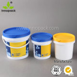Printed 2.5L Plastic Bucket and Pail with Lid