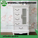 Modern White 5 Drawer Cabinet for Display (W-B-A1010)