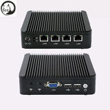 2016 New Products Barebone Mini PC J1900 Quad Core 4 LAN 1080P Industrial Computer
