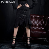 Sexy Lady Plus Size Long Gothic Fishtail Skirt (Q-035)