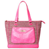 Wholesale Fashion Linen/PU Leisure Shoulder Woman Handbag (L130813)