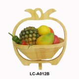 Wooden Foldable Fruit Basket/Bamboo Fruit Basket (LC-A007B)